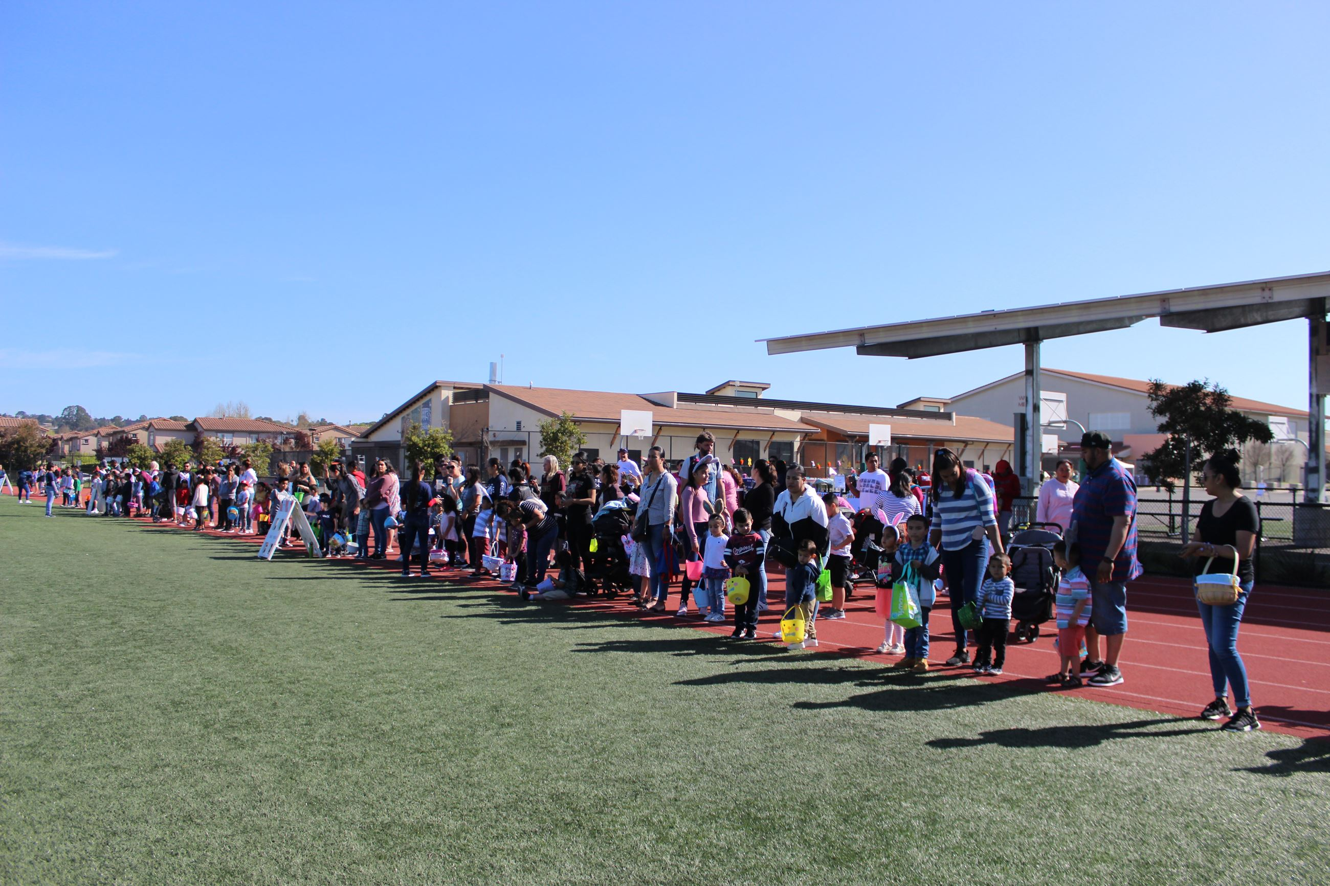 Participants waiting for Egg Hunt at Spring Eggstravaganza