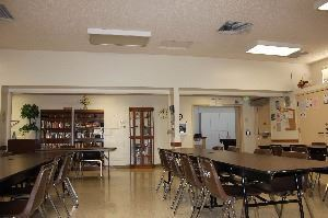 Inside Davis Park Senior Center