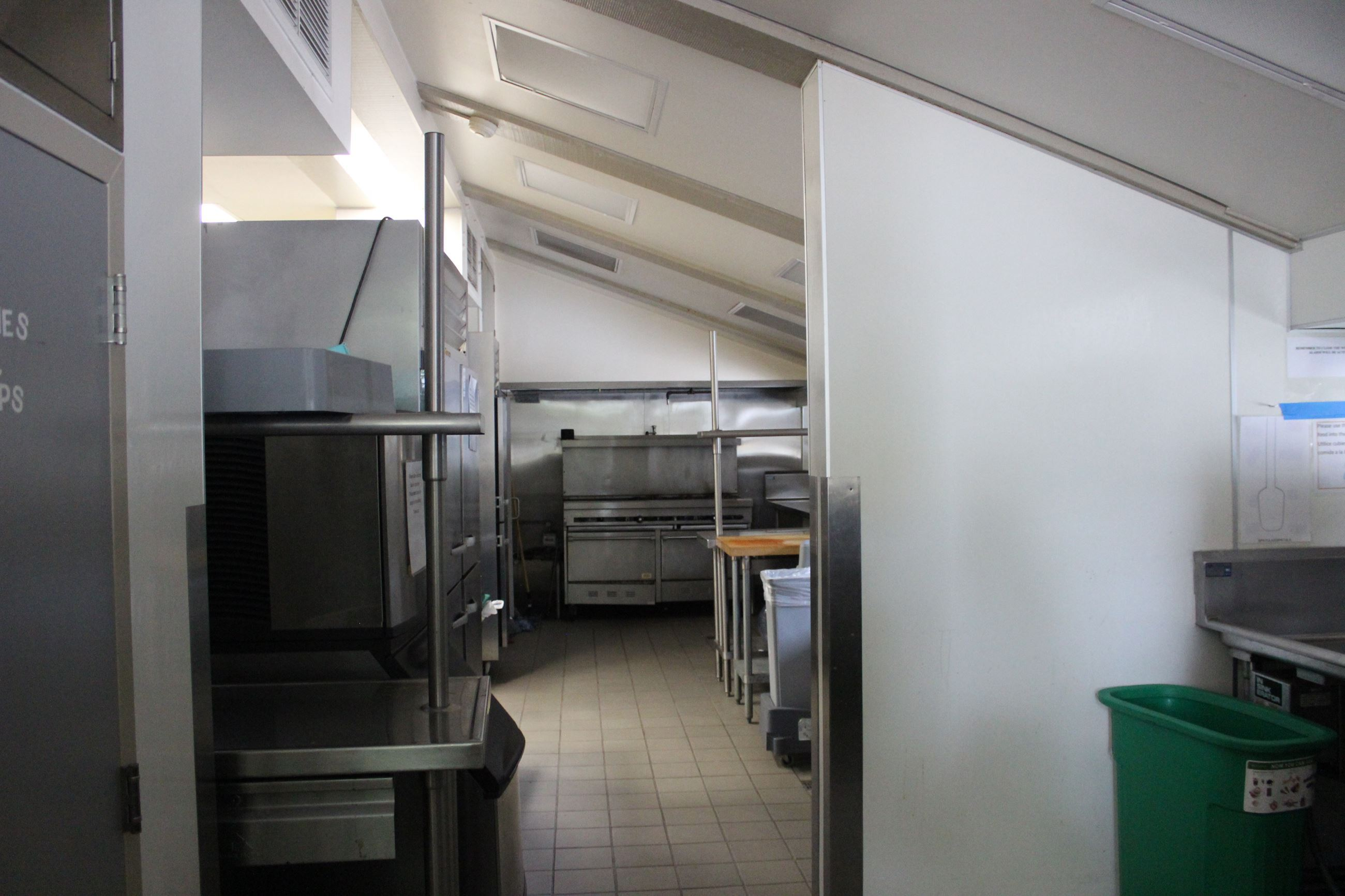 Side View of Maple Hall Kitchen