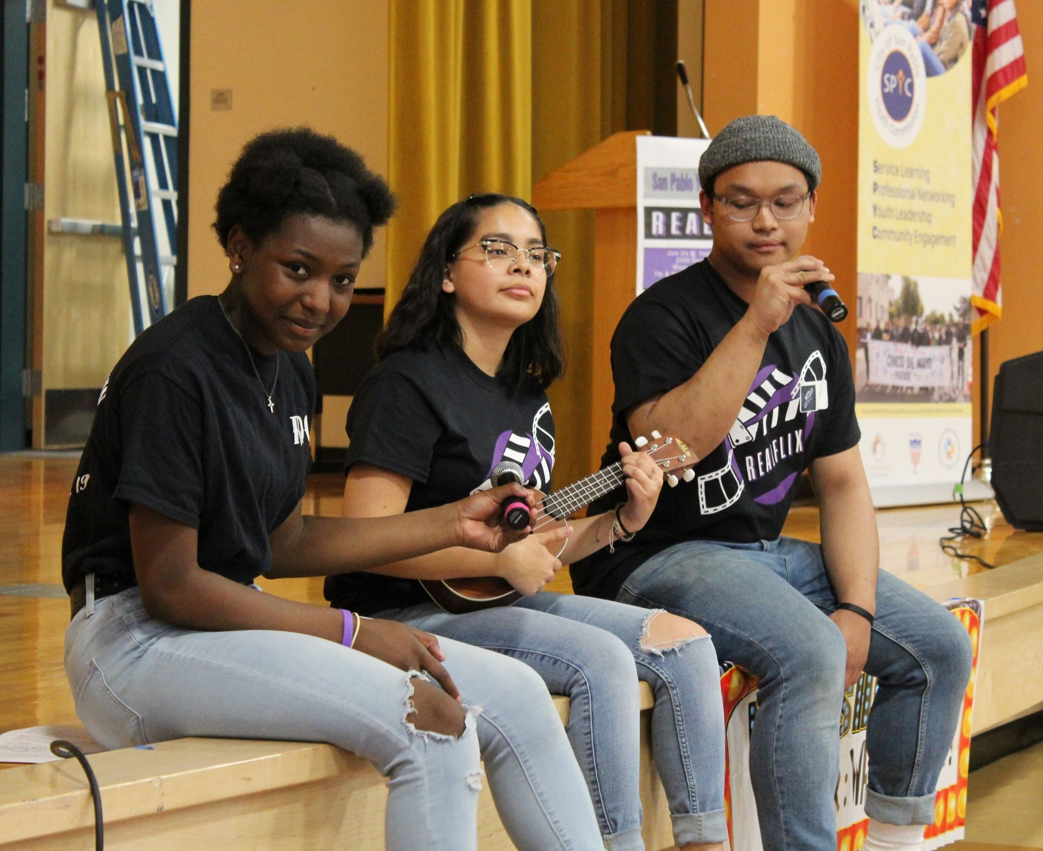 San Pablo Youth Commissioners Participating during Youth Summit Event