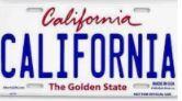 License Plate CA