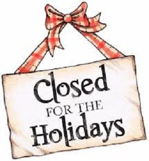 Closed for the Holidays 300
