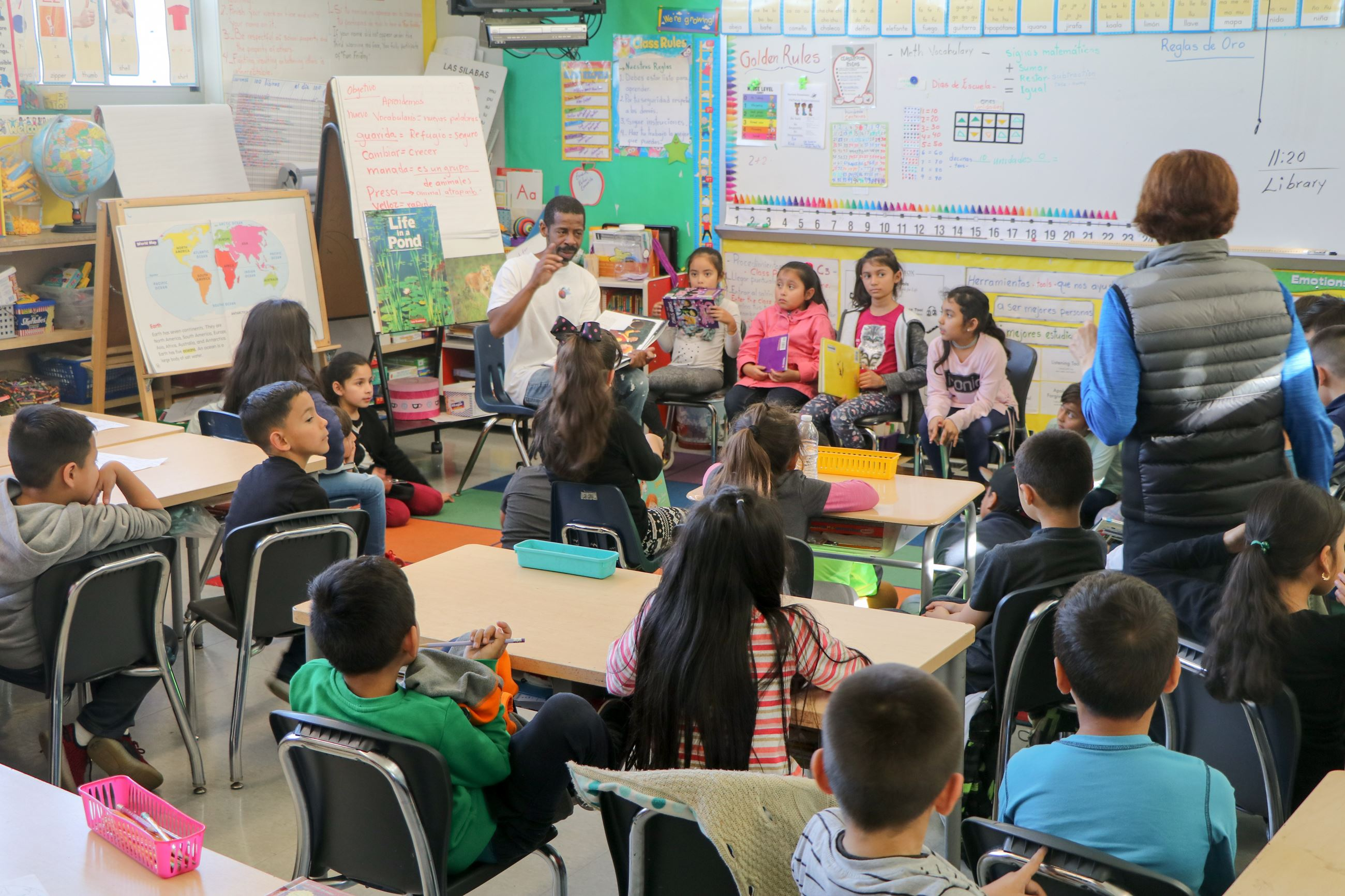 Classroom Reading during Bayview Elementary's African American Excellence Read-In