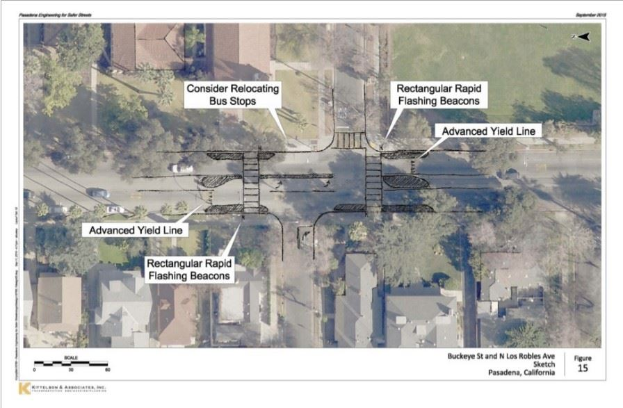 Example image of a potential systemic roadway treatment for reducing bicycle and pedestrian crashes,