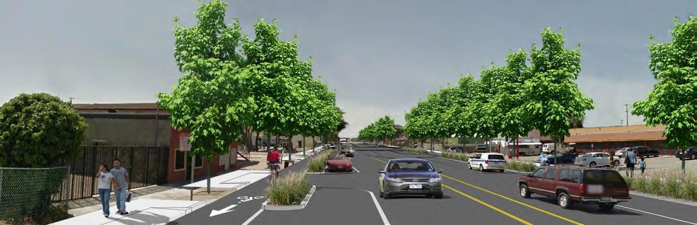 Concept Design Visual for Rumrill Boulevard Complete Streets Project - from South of Market Avenue t
