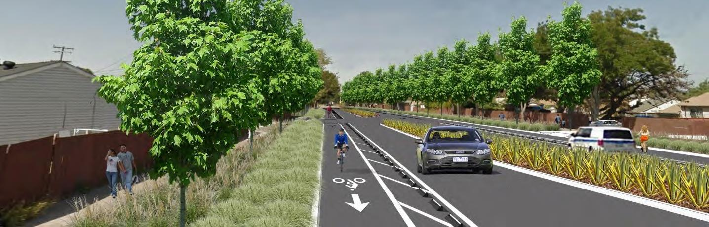 Concept Design Visual for Rumrill Boulevard Complete Streets Project - from North of Market Avenue t