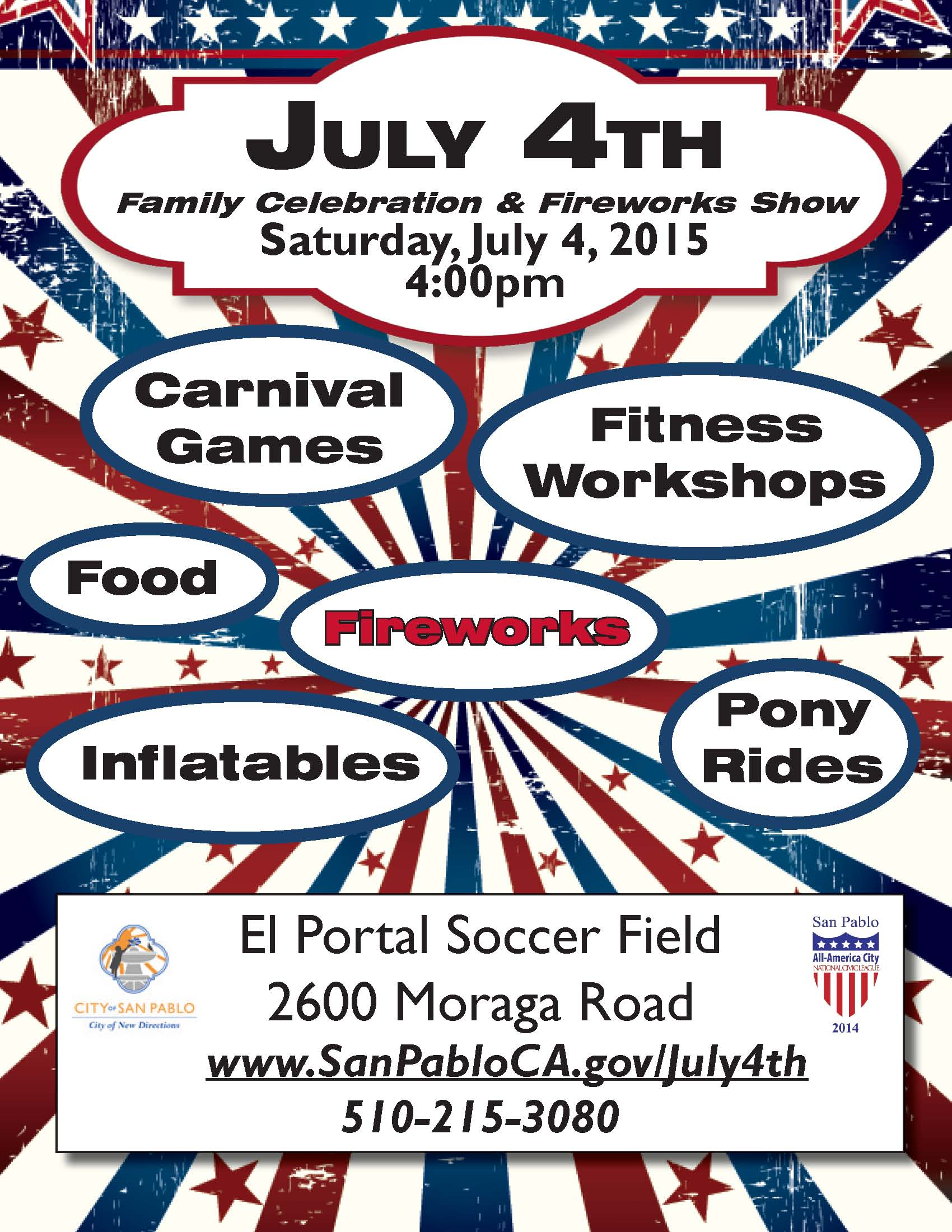 San Pablo | 4th of July Family Celebration & Fireworks Show | 2015